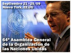 Septiembre 21 - 25 2009 64a Asamblea General de la Organizacion de las Naciones Unidas