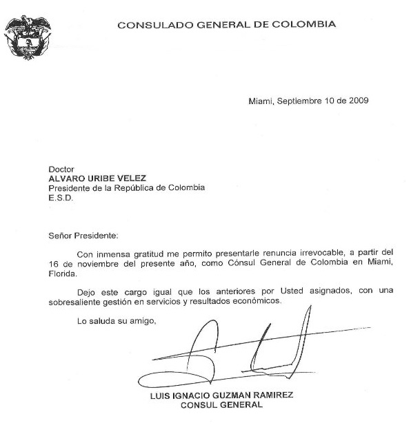 Renuncia C Nsul General De Miami Luis I Guzm N Redes