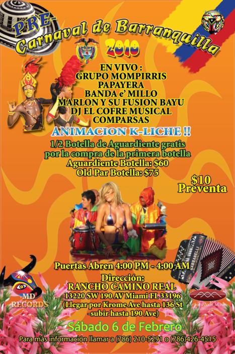 Pre-Carnaval Barranquilla Feb 6