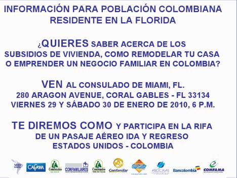 Participa en la Rifa de un pasaje aereo Ida y Regreso USA - Colombia
