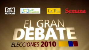 Gran Debate Presidencial Martes 23 2010 a las 10 pm
