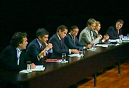 Debate con candidatos presidenciales