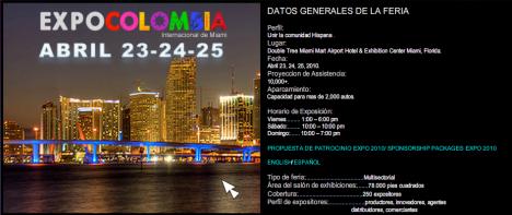 Expo Colombia en Miami Abril 23-24-25 2010