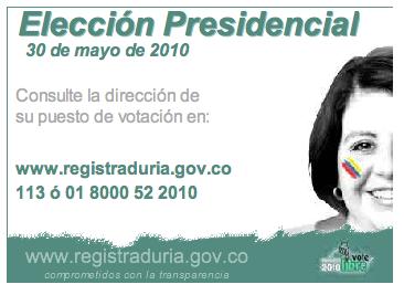 Eleccion Presidencial 30 de Mayo de 2010 - Como votar?