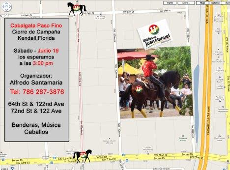 Cierre de Campaña en Kendall Cabalgata Paso Fino @ 3pm