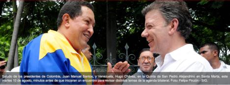Reunion Chavez - Santos - Santa Marta - Fotos Felipe Pinzón - Presidencia SIG