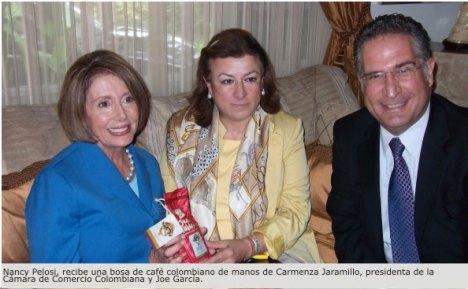 Carmenza Jaramillo - Presidenta de la Camara de Comercio Colombo Americana de Miami se reune con la Presidenta del Congreso Americano Nancy Pelosi en Miami