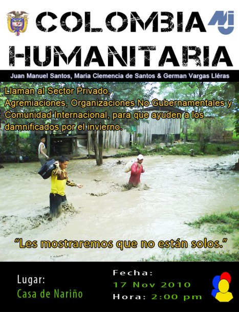 Colombia Humanitaria - 1a Jornada Casa de Nariño - Nov 17 de 2010 2pm
