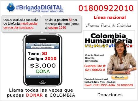 Colombia Humanitaria - Maria Clemencia Rodriguez de Santos - #Brigada Digital - ColombiaHumanitaria.co - DonacionColombia.com