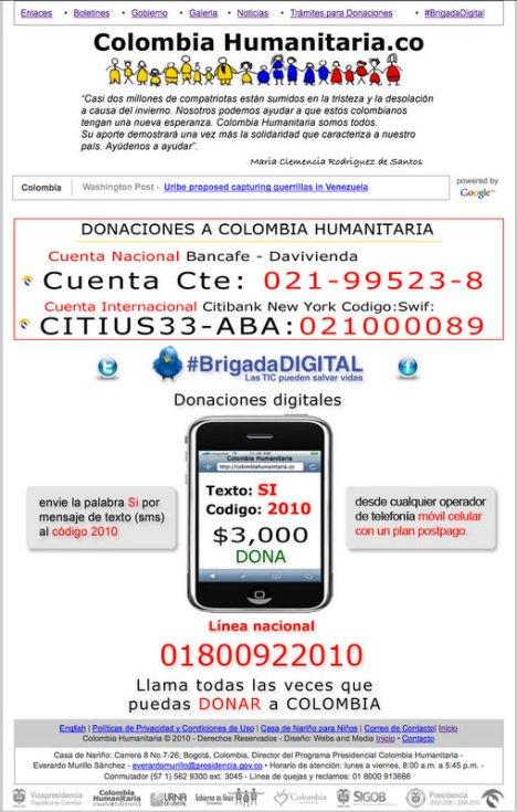 ColombiaHumanitaria.co - Cómo Donar a Colombia Humanitaria para los Damnificados de la Ola Invernal en Colombia - Maria Clemencia Rodriguez de Santos