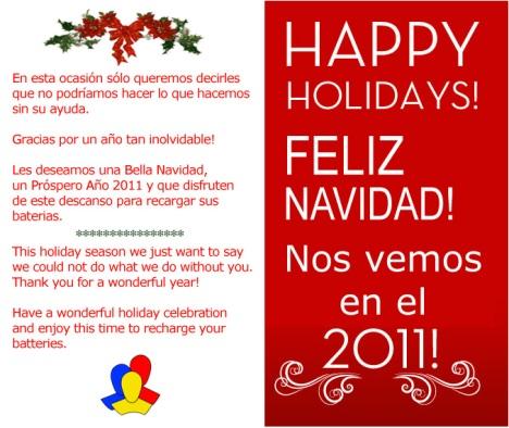 Feliz Navidad 2010 les desea RedesColombia.com