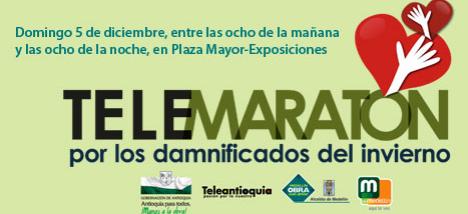 TeleMaraton por los Damnificados del Invierno - 8am a 8pm Plaza Mayor de Exposiciones - Gobierno de Antioquia