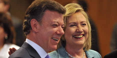 foto7_950 Presidente Juan Manuel Santos se encuentra con Hillary Clinton, Secretaria de Estado de los Estados Unidos en Brazil