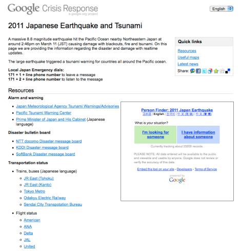 Informacion detallada del Terremoto en Japon - Encuentre a sus seres queridos