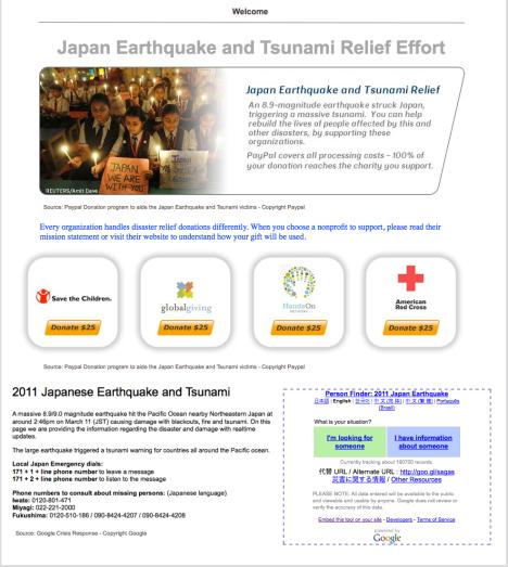 Japan Earthquake and Tsunami Relief Effort