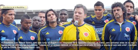 Presidente Santos saluda a la Seleccion Colombia - Foto Andres Piscov - SIG