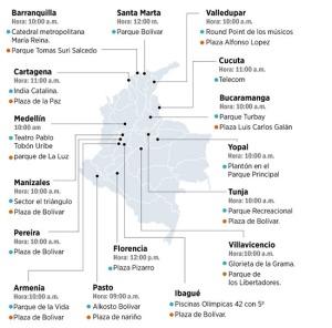 Puntos de Concentracion - Encuentro Colombia