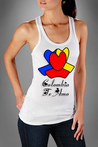 "Redes Colombia Valentine's t-shirt ""Colombia Te Amo"""