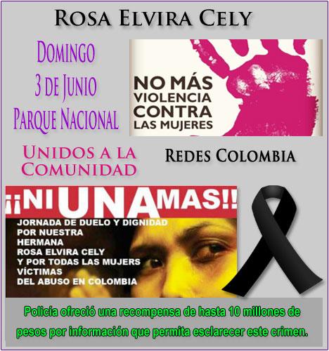 Redes Colombia se une a Colombia #Niunamás - Domingo 3 de Junio en memoria de Rosa Elvira Cely