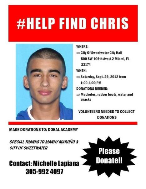 #Help Find Chris Aguilar