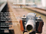 I Photography Exhibition - China in the Eyes of the Colombians