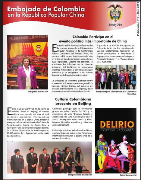 Noticias Embajada de Colombia en la R.P China