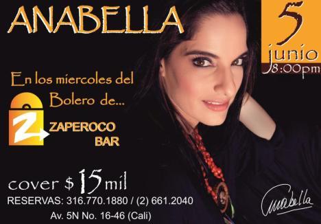 Evento Zaperoco Bar Junio 5 - Anabella - Miercoles de Bolero