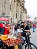 The old historic center La Candelaria is packed with atmosphere—and food vendors.