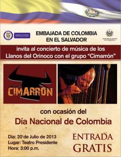 20 de Julio en El Salvador ~ Independencia de Colombia