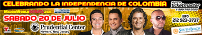 20 de Julio Prudential Center New Jersey ~ Carlos Vives, Jorge Celedon,