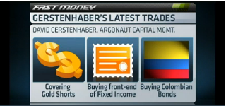 David Gerstenhaber, Argonaut Capital Management, shares his top trades now